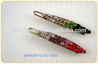 2014 Lady's gradient color metal beads hair grip