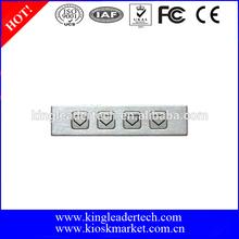 Rugged waterproof steel function metal keypad with 4 short-travel keys