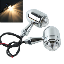 Clear ABS lens Chrome Motorcycle Turn signal light For Harley chopper Bobber Cafe Racer