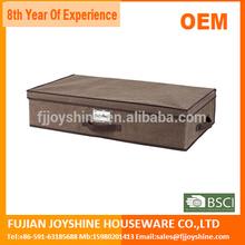Nature Linen Underbed Folding Storage Box with lid/Blanket storage