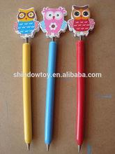 owl wooden cartoon ballpoint pens