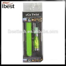 Ibest 2014 Wholesale Electronic Cigarette EGO 1500mah Twist Battery Hot Selling
