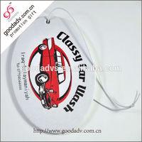 Decorative souvenir aromatic flavor car air fresheners/car paper perfume