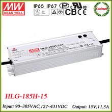 Meanwell HLG-185H-15 led light driver 15v 11.5a