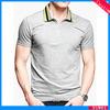 Plain No Button Polo Shirt wiht Zipper Collar