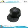 New 2014 Fashion Black Crocodile Leather Custom Snapback Hats Caps Wholesale