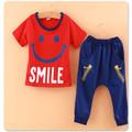 2014 hfr-w157 recém-chegados promoção da cara do sorriso do alfabeto e design de roupas de criança