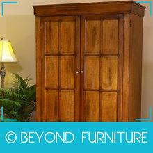 Home Bedroom Oak Finish Wooden Wardrobe Designs