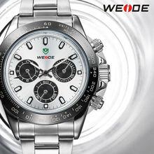 NEW!! 2014 WEIDE relojes luxury brand analog display JAPAN Miyota quartz watch,30 meters waterproof gold watch male clock