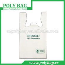 100% compostable plastic poly bag with print