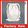 2014 Wholesale Blank Cotton Muslin Drawstring Bag