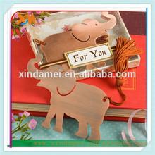 cheap craft metal elephant bookmark manufactures (xdm-bk189)