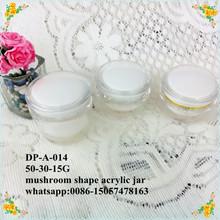 2015 new mushroom shape 50ml acrylic cream jars cosmetic packaging
