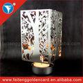 personalizadas personalizado en forma de rotación y de metal spinning luz del té vela titulares de venta al por mayor para la decoración del hogar