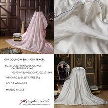 100% doupioni silk quilt/duvet/comforter core,100% tencel outshell, handmade , Single/Double/Queen/King