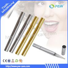 2014 elegante e teeth whitening pen portáteis brilhante caneta branca