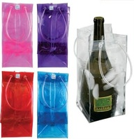 Hot selling high quality pvc ice bag for wine pvc ice cooler bag pvc wine ice bag