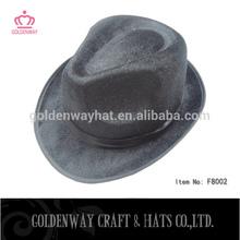black cheap felt fedora hats promotional design 100 PP polyester hats