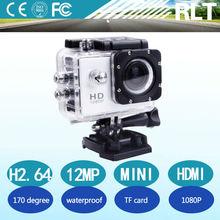 2014 new H264 mini HD1080P 12mp Waterproof 30meters 120degree HDMI go pro hero camera
