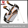 New products 2014 golf bags factory/leather golf bag