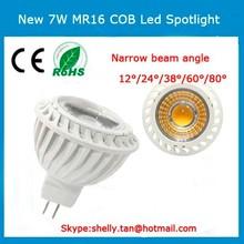 High quality 7w AC/DC12V dimmable mr16 led spotlight 600lm 2700k