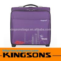 15.6 Inch Fashionable Fancy Purple Waterproof Laptop Trolley Bag