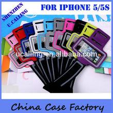 Key Pocket Neoprene Running Armband For iPhone 5,5S,5C