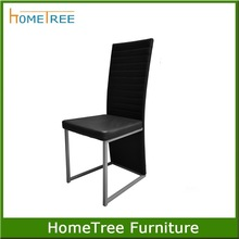 modern high black dining chairs in pu leather