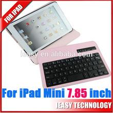 For iPad Mini Bluetooth Keyboard,Stand Leather Case for iPad mini bluetooth wireless keyboard for ipad wholesale mini bluetooth