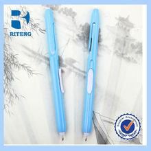 Dotted grip plastic ball pen/plastic pen click type/plastic ballpen plastic clip