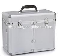 Sliver compact aluminum barber tool box case