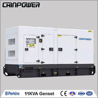 11KVA/9KW prime power 12kva/10kw standby power Silent(Soundproof)type Perkins Diesel Generator powered by Perkins Engine 403D-1G