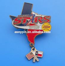China made sports trading pin badge, baseball trading pins, enamel sports lapel pin