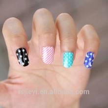 2015 hot colorful nail art popular style polish nail sticker