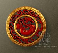 Q866-80.83 Handmade Dragon Circles Decoration Wall Hanging 3D Animal Wall Decor
