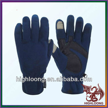 Winter Comfortable XL Size Blue Wool Gloves Fl