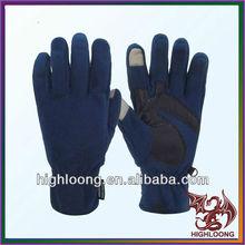Winter Comfortable XL Size Blue Wool Gloves Fleece Lined