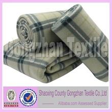 100 polyester printed fleece plaid throw blanket