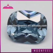Color change 2# rectangle shape different types precious stones