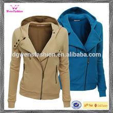 Women Fashion Hoodie 2014 & ladies fleece zip up hoodie& korean style hoodie jacket