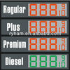 waterproof double sides price gas led digital sign with red green amber tube chip