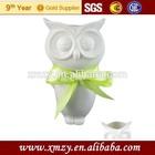 Antique porcelain owl shape animal vase