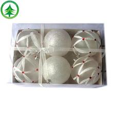 Venta al por mayor / al por menor caliente venta de la alta calidad de encargo personalizado de cristal de la navidad de bolas de navidad decoración de bolas de navidad bola