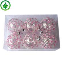Venta al por mayor / al por menor caliente venta de la alta calidad de encargo personalizado de navidad de plástico decoración de bolas de cristal de la navidad bola de navidad bola