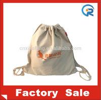 High quality China cheap large canvas drawstring laundry bag