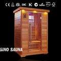persona 2 barril sauna con turmalina piedra y calentador de carbono juntos