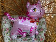 customized advertising Aluminium foil/Nylon/PE balloon pink cat