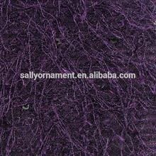 Purple woven lace flannel fabric