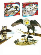 3D EVA puzzle, raptor animals, owl, eagle ect
