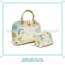 Custom image PU cosmetic bag set